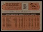 1972 Topps #212  Grant Jackson  Back Thumbnail
