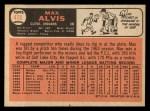 1966 Topps #415  Max Alvis  Back Thumbnail