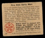 1950 Bowman Wild Man #11   Fire Aids Early Man Back Thumbnail