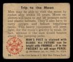 1950 Bowman Wild Man #36   Trip to the Moon Back Thumbnail
