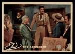 1958 Topps Zorro #61   The Argument Front Thumbnail