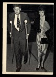 1964 Topps JFK #51   Sen. Kennedy On Crutches Front Thumbnail