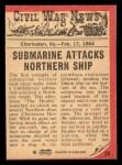 1965 A and BC England Civil War News #59   Submarine Attack Back Thumbnail