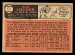 1966 Topps #374  Bob Locker  Back Thumbnail