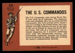 1966 A and BC England Battle #69   The U.S. Commandos Back Thumbnail