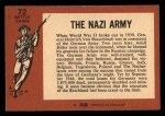 1966 A and BC England Battle #72   The Nazi Army Back Thumbnail