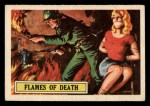 1966 A and BC England Battle #52   Flames Of Death Front Thumbnail