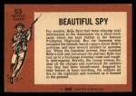 1966 A and BC England Battle #53   Beautiful Spy Back Thumbnail