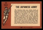 1966 A and BC England Battle #71   The Japanese Army Back Thumbnail