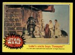 1977 Topps Star Wars #193   Like's uncle buys Threepio Front Thumbnail