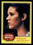 1977 Topps Star Wars #180   Princess Leia honors the victors Front Thumbnail