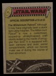 1977 Topps Star Wars #172   Droids in the escape pod Back Thumbnail