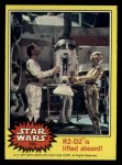 1977 Topps Star Wars #156   R2-D2 is lifted aboard Front Thumbnail