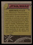 1977 Topps Star Wars #317   Filming explosions on the Death Star Back Thumbnail
