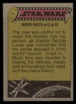 1977 Topps Star Wars #312   Using the blue screen process for X-wings Back Thumbnail