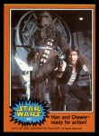 1977 Topps Star Wars #287   Han and Chewie ready for action! Front Thumbnail