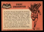 1966 Topps Batman Black Bat #19 BLK  Fiery Encounter Back Thumbnail