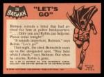 1966 Topps Batman Black Bat #28 BLK  Let's Go Back Thumbnail
