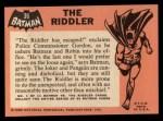 1966 Topps Batman Black Bat #36 BLK  The Riddler Back Thumbnail