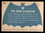 1966 Topps Batman Blue Bat Back #7 BLU  The Grim Gladiator Back Thumbnail