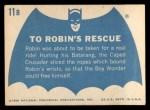 1966 Topps Batman Blue Bat Back #11 BLU  To Robin's Rescue Back Thumbnail