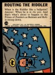 1966 Topps Batman Blue Bat Puzzle Back #22 PUZ  Routing the Riddler Back Thumbnail
