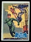 1966 Topps Batman Blue Bat Puzzle Back #22 PUZ  Routing the Riddler Front Thumbnail