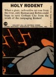 1966 Topps Batman Blue Bat Puzzle Back #35 PUZ  Holy Rodents Back Thumbnail