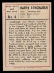 1966 Leaf Good Guys Bad Guys #4  Sundance Kid  Back Thumbnail
