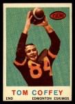 1959 Topps CFL #45  Tommy Joe Coffey  Front Thumbnail
