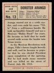 1966 Leaf Good Guys Bad Guys #13  Pancho Villa  Back Thumbnail