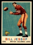 1959 Topps CFL #14  Bill Jessup  Front Thumbnail