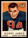 1959 Topps CFL #7  Gerry James  Front Thumbnail