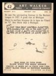 1959 Topps CFL #42  Art Walker  Back Thumbnail