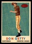 1959 Topps CFL #39  Don Getty  Front Thumbnail