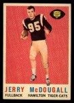 1959 Topps CFL #70  Jerry McDougall  Front Thumbnail