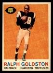 1959 Topps CFL #77  Ralph Goldston  Front Thumbnail