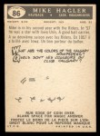 1959 Topps CFL #86  Mike Hagler  Back Thumbnail