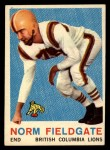 1959 Topps CFL #16  Norm Fieldgate  Front Thumbnail
