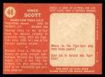 1958 Topps CFL #48  Vince Scott  Back Thumbnail