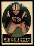 1958 Topps CFL #48  Vince Scott  Front Thumbnail