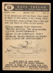 1959 Topps CFL #58  Dave Thelen  Back Thumbnail
