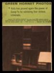 1966 Donruss Green Hornet #4   Kato subduing criminals Back Thumbnail