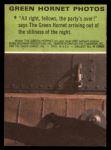 1966 Donruss Green Hornet #9   Party's Over Back Thumbnail