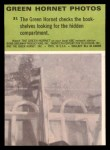 1966 Donruss Green Hornet #31   Green Hornet checks bookshelves Back Thumbnail