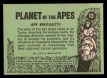 1969 Topps Planet of the Apes #13   Ape Brutality Back Thumbnail