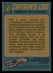 1976 Topps Star Trek #39   Timeship of Lazarus Back Thumbnail