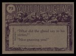 1973 Topps You'll Die Laughing #75   You oughta see other guy Back Thumbnail