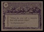 1973 Topps You'll Die Laughing #97   Isn't there an easier way Back Thumbnail