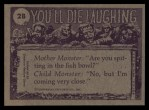 1973 Topps You'll Die Laughing #28   I wish she'd stop falling asleep Back Thumbnail